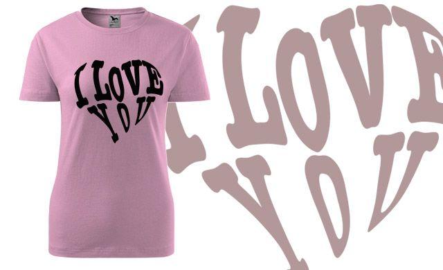 4938dbfbbe2f dámské tričko s potiskem LOVE 3   růžová XS