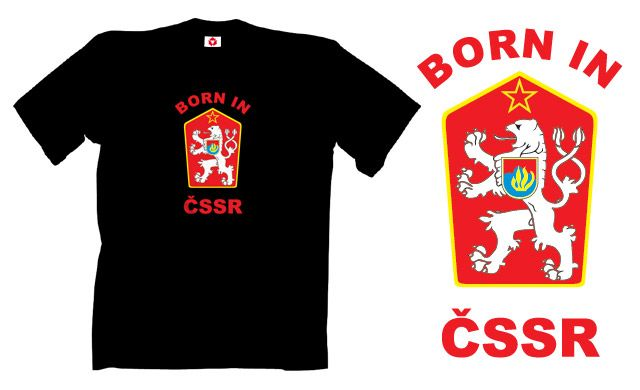 tričko s potiskem BORN IN ČSSR 5afcb44d27
