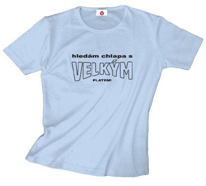 ea7adc6489b4 tričko s potiskem HLEDÁM CHLAPA   béžová M